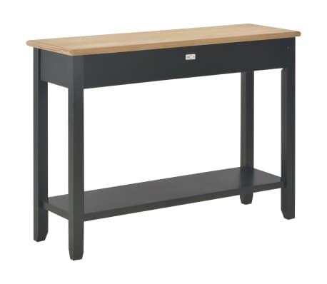 vidaXL Konsolinis staliukas, juodas, 110x35x80cm, mediena[4/8]