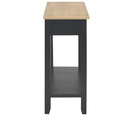 vidaXL Konsolinis staliukas, juodas, 110x35x80cm, mediena[5/8]