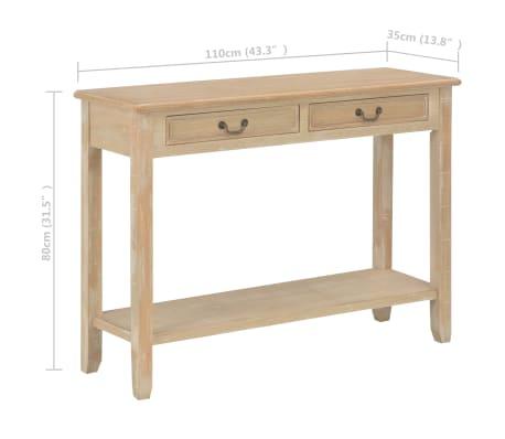 vidaXL Konsolinis staliukas, 110x35x80cm, mediena[8/8]