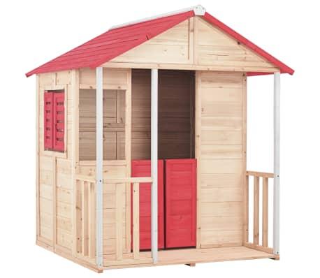 vidaXL Casa de brincar para crianças madeira vermelho