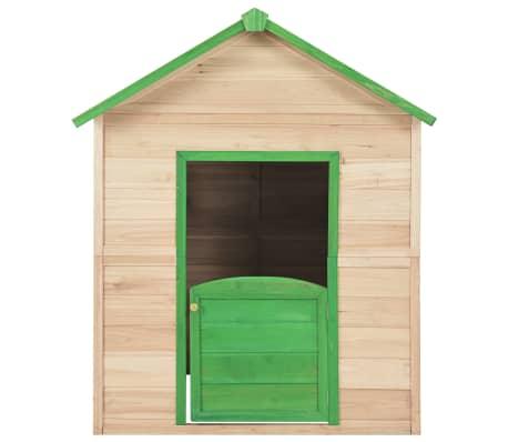 vidaXL Maison de jeu pour enfants Bois Vert[5/9]