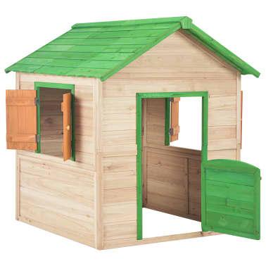 vidaXL Maison de jeu pour enfants Bois Vert[3/9]