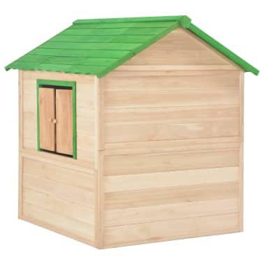 vidaXL Maison de jeu pour enfants Bois Vert[4/9]