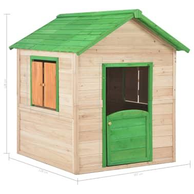 vidaXL Maison de jeu pour enfants Bois Vert[9/9]