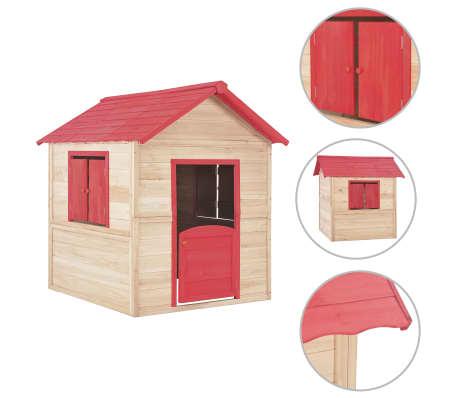 vidaXL Casinha de brincar para crianças madeira vermelho