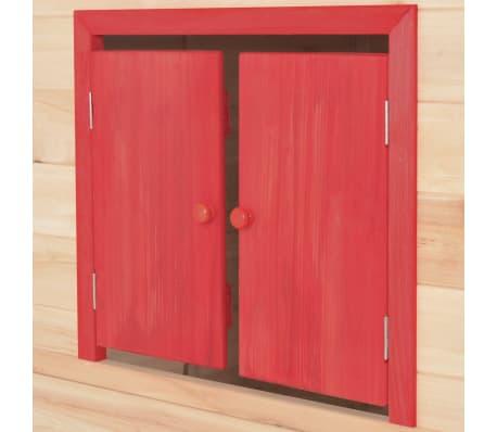 vidaXL Casa de juegos de niños madera roja[7/9]