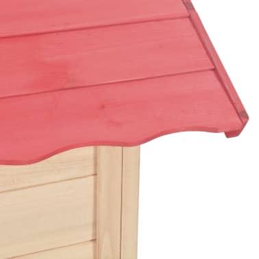 vidaXL Casa de juegos de niños madera roja[8/9]
