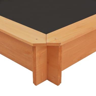 vidaXL Smėlio dėžė su reguliuojamu stogeliu, mėlyna, mediena, UV50[9/10]