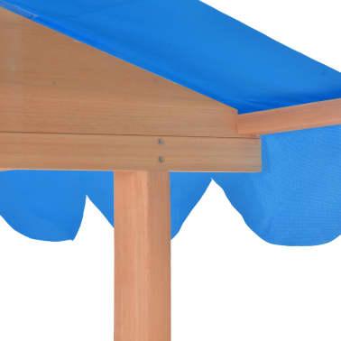 vidaXL Maison de jeu pour enfants avec bac à sable Bois Bleu UV50[7/10]