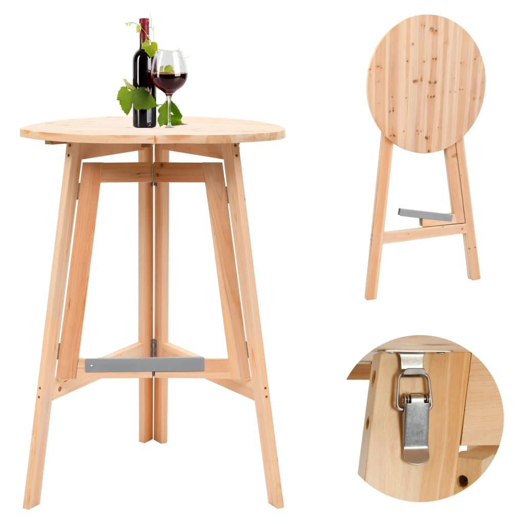 vidaXL Skládací barový stůl 78 cm jedlové dřevo