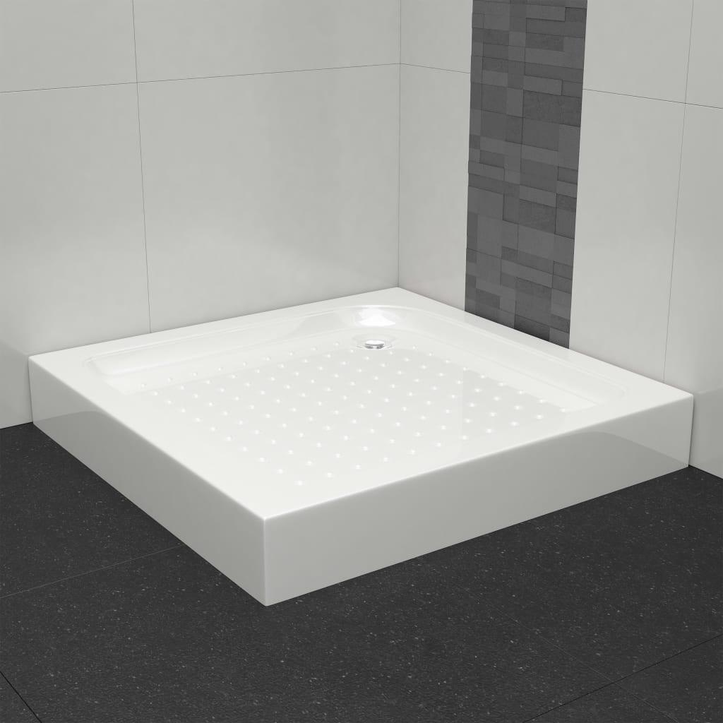 vidaXL Bază pentru cădița de duș, alb, 70 x 70 x 13,5 cm, acril poza 2021 vidaXL