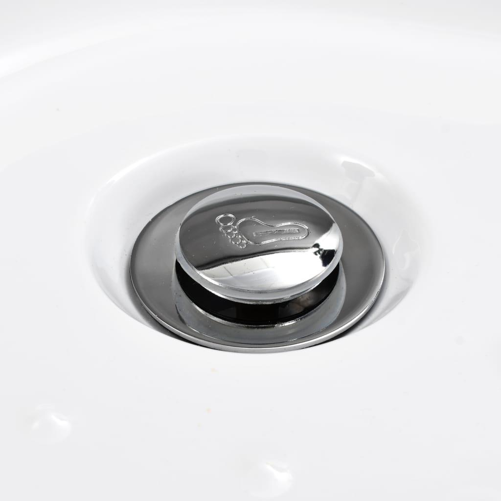 vidaXL-Shower-Base-Tray-80x80x13-5cm-Acrylic-White-Square-Bathroom-Receptacle thumbnail 5