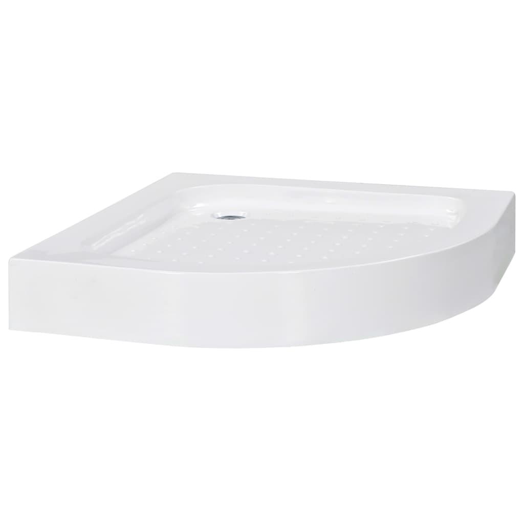 vidaXL Βάση Ντουζιέρας Λευκή 80 x 80 x 13,5 εκ. Ακρυλική