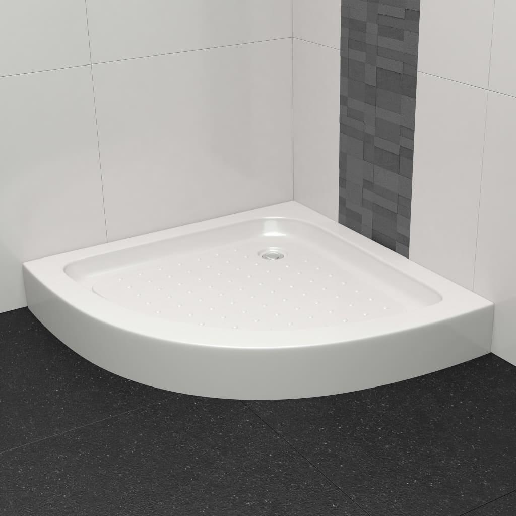 vidaXL Bază pentru cădița de duș, alb, 80 x 80 x 13,5 cm, acril poza 2021 vidaXL