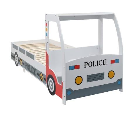 vidaXL Detská posteľ policajné auto so stolom 90x200 cm