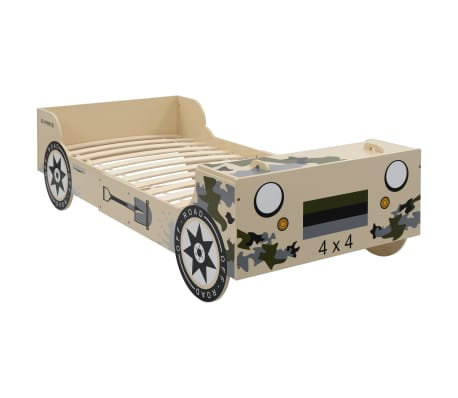 vidaXL Vaikiška lova-visureigis, 90x200 cm, kamufliažinė