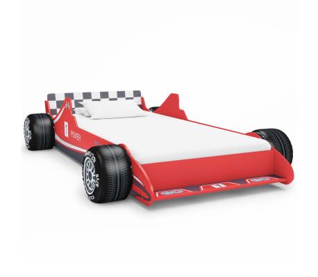vidaXL Letto Bimbo ad Auto da Corsa 90x200 cm Rosso