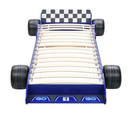 vidaXL Vaikiška lova lenktyninė mašina, 90x200 cm, mėlyna[4/6]