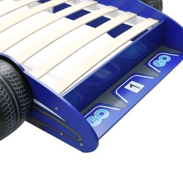 vidaXL Vaikiška lova lenktyninė mašina, 90x200 cm, mėlyna[6/6]