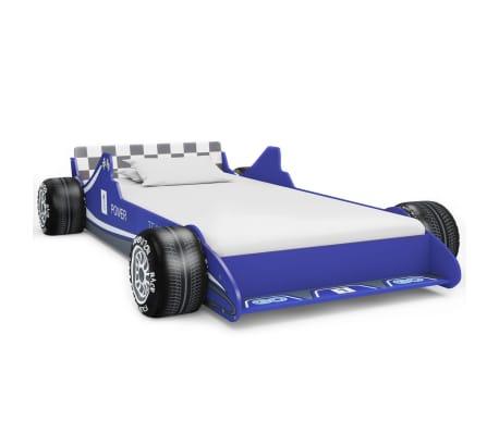 vidaXL Vaikiška lova lenktyninė mašina, 90x200 cm, mėlyna[1/6]