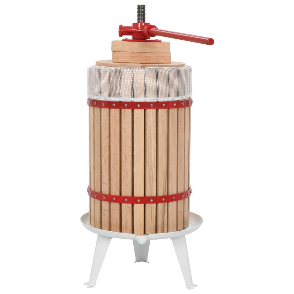 vidaXL Lis na ovoce a víno s textilním vakem 24 l dubové dřevo