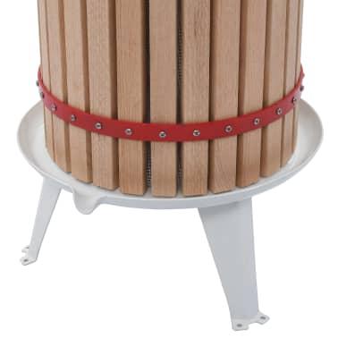 vidaXL Torchio per Frutta e Vino con Sacco in Tessuto 24 L Rovere[4/5]