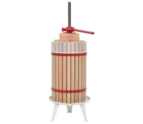 vidaXL Vaisių ir vyno presas su audinio maišeliu, ąžuolo med., 30l