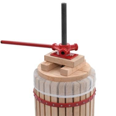 vidaXL Preša za sadje in vino z vrečo iz blaga 30 L hrastovina[3/5]