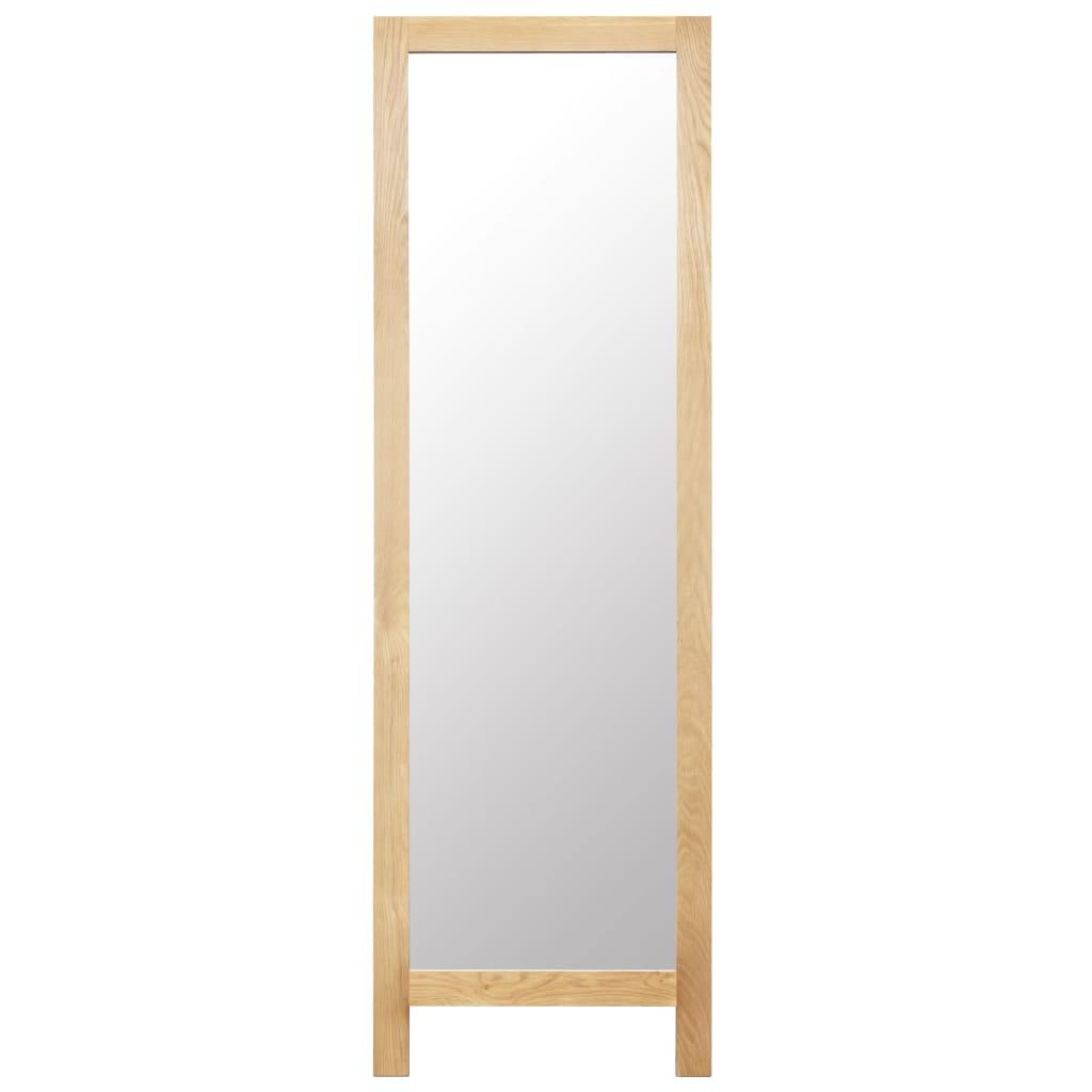 Vidaxl Solid Oak Wood Freestanding Mirror Standing Hall Makeup Vanity Decor 76 99 Picclick Uk