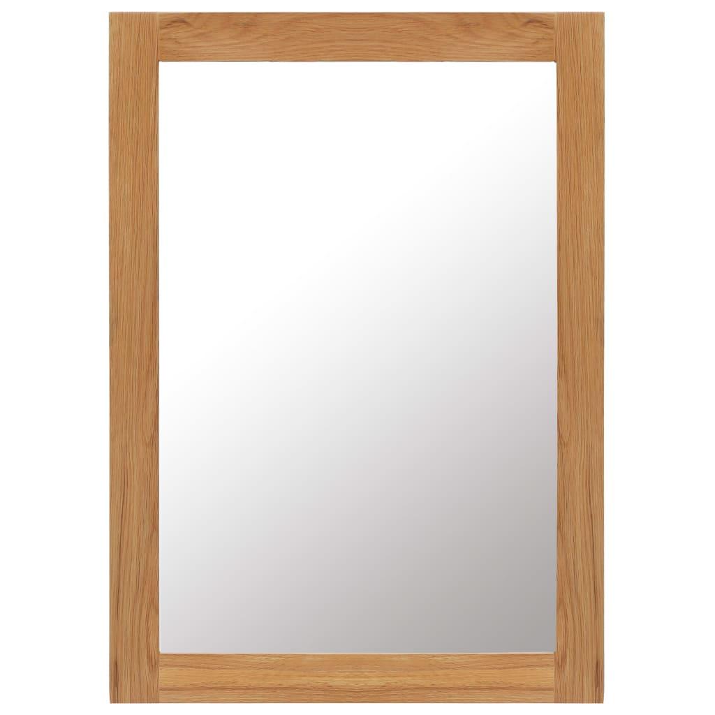 vidaXL Καθρέφτης 50 x 70 εκ. από Μασίφ Ξύλο Δρυός
