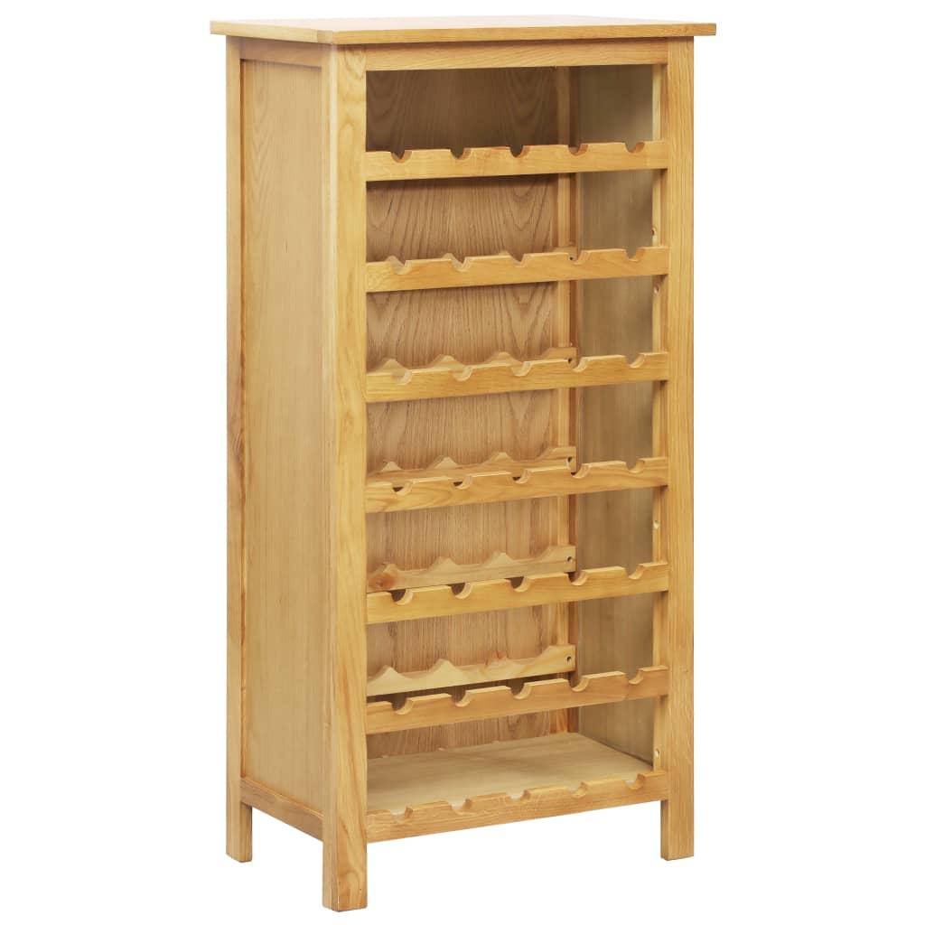vidaXL Stojan na víno 56 x 32 x 110 cm masivní dubové dřevo