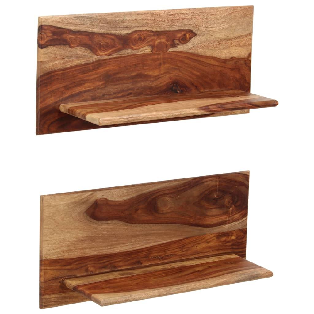 vidaXL Rafturi de perete, 2 buc., 58x26x20 cm, lemn masiv de sheesham imagine vidaxl.ro