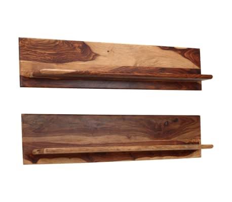 vidaXL Prateleiras de parede 2 pcs 118x26x20cm madeira sheesham maciça