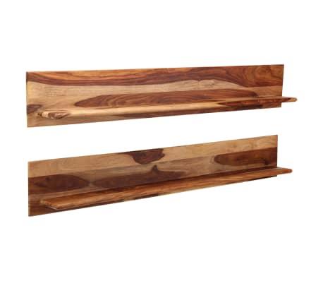 vidaXL Prateleiras de parede 2 pcs 169x26x20cm madeira sheesham maciça