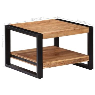 vidaXL Kavos staliukas, 60x60x40cm, akacijos med. masyvas[8/13]