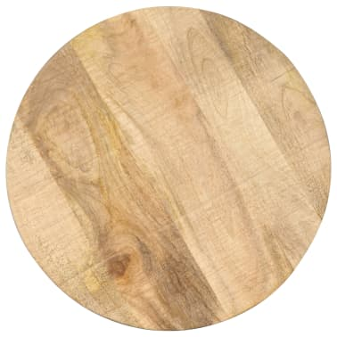 vidaXL Šoninis staliukas, 45x(45-62)cm, mango med. mas. ir ketus[3/12]