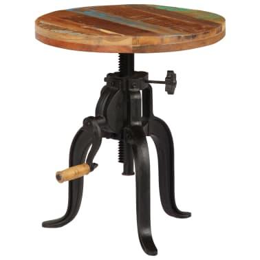 vidaXL Šoninis staliukas, 45x(45-62)cm, perdirbtos med. mas. ir ketus[1/12]