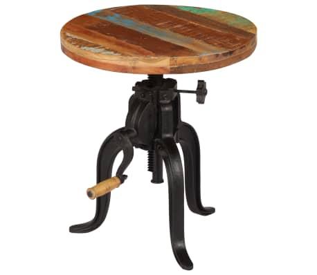 vidaXL Šoninis staliukas, 45x(45-62)cm, perdirbtos med. mas. ir ketus[8/12]