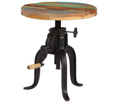 vidaXL Šoninis staliukas, 45x(45-62)cm, perdirbtos med. mas. ir ketus[10/12]