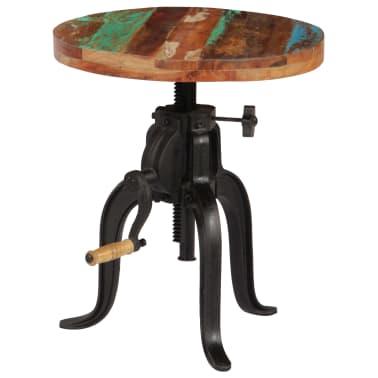 vidaXL Šoninis staliukas, 45x(45-62)cm, perdirbtos med. mas. ir ketus[11/12]