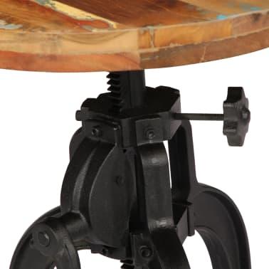vidaXL Šoninis staliukas, 45x(45-62)cm, perdirbtos med. mas. ir ketus[4/12]