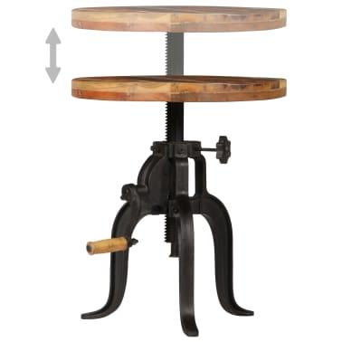 vidaXL Šoninis staliukas, 45x(45-62)cm, perdirbtos med. mas. ir ketus[6/12]