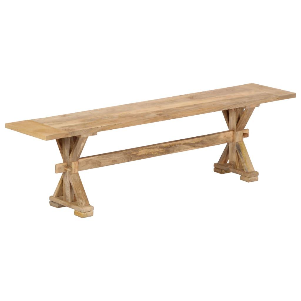 vidaXL Lavice do předsíně 160 x 35 x 45 cm masivní mangovníkové dřevo