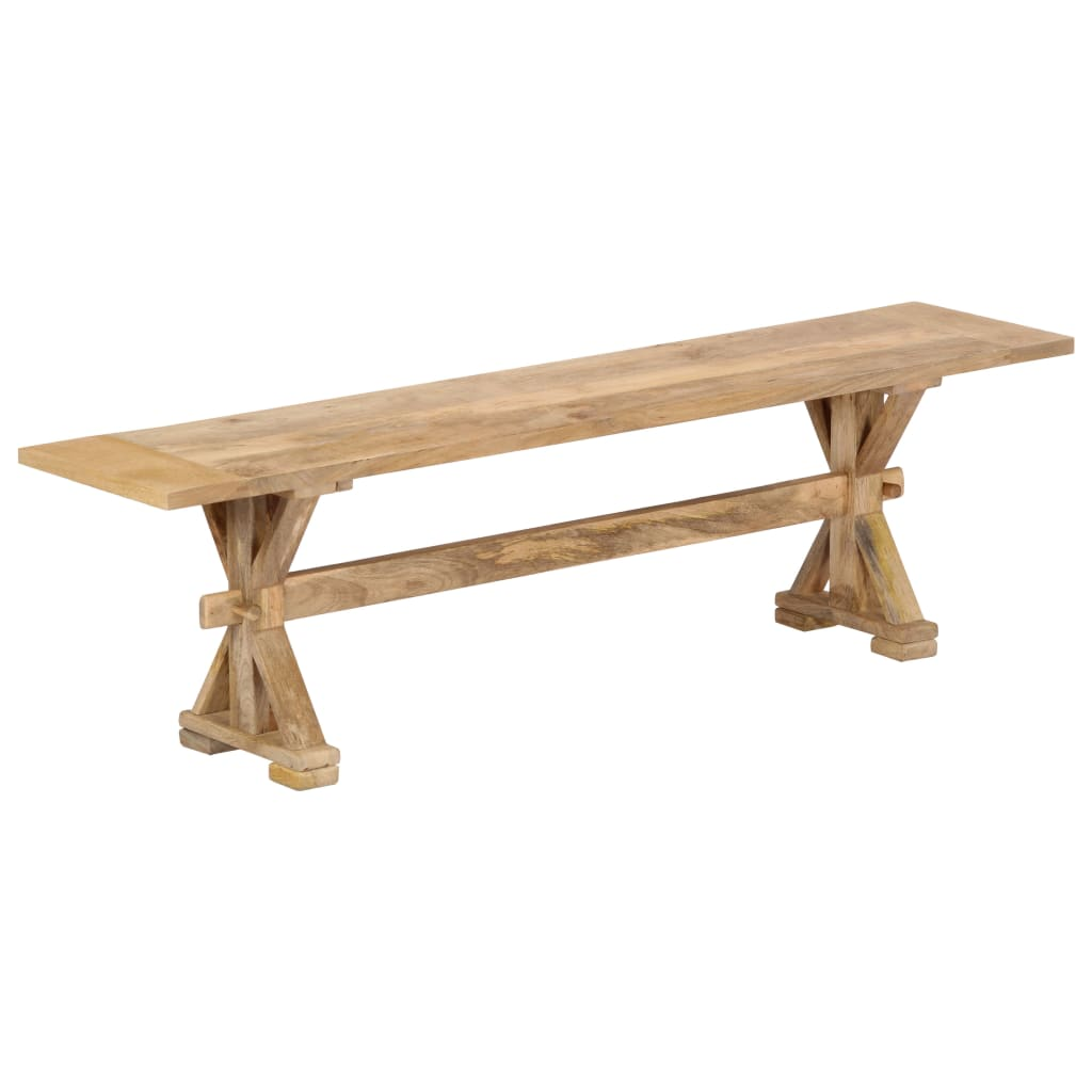 vidaXL Bancă de hol, 160 x 35 x 45 cm, lemn masiv de mango imagine vidaxl.ro