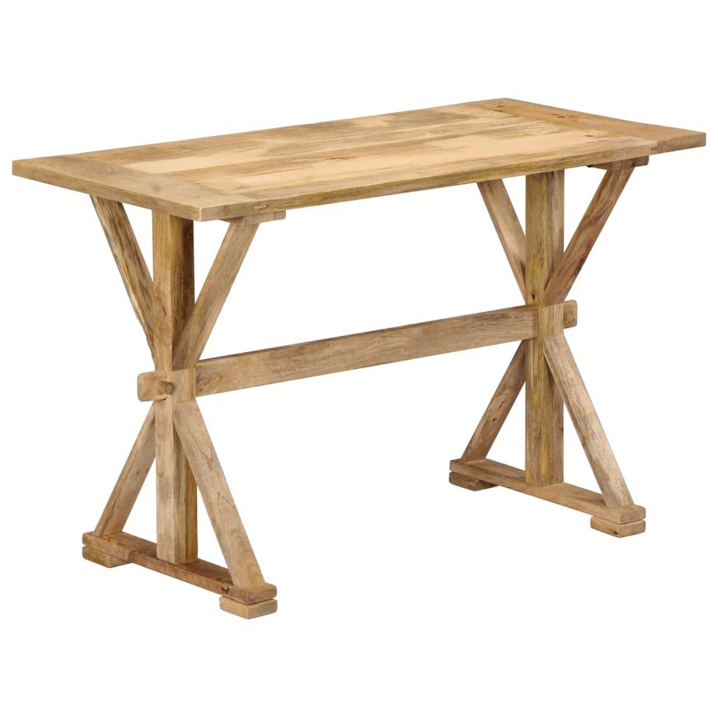 vidaXL Masă de bucătărie, 140x70x76 cm, lemn masiv de mango poza vidaxl.ro