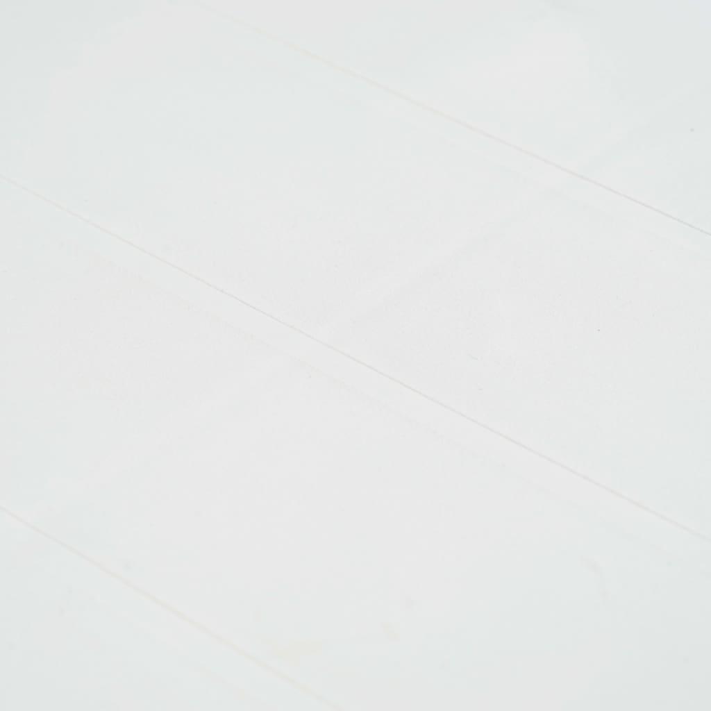 VIDAXL TABLE DE Jardin Blanc 150x90x72 cm Plastique Aspect ...