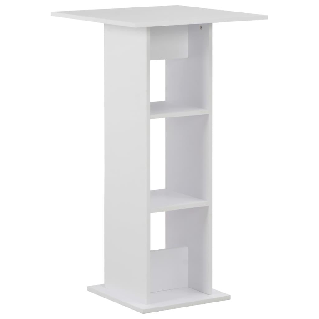 vidaXL Τραπέζι Μπαρ Λευκό 60 x 60 x 110 εκ.