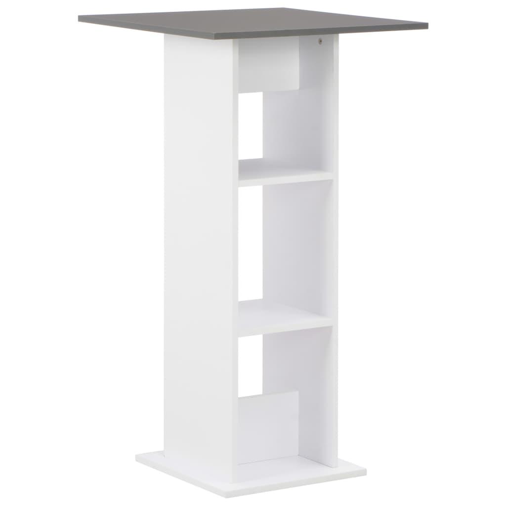 Barový stůl bílý 60 x 60 x 110 cm