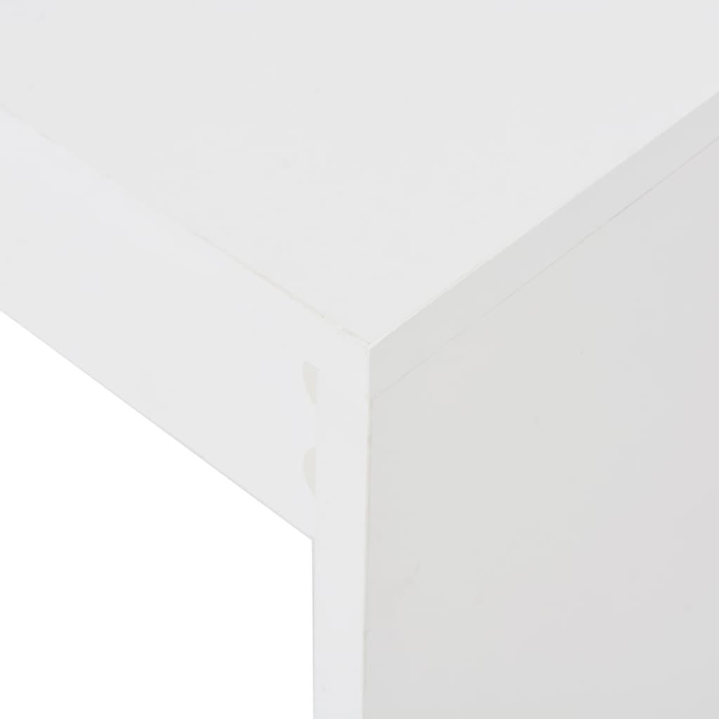 Barový stůl s regálem bílý 110 x 50 x 103 cm