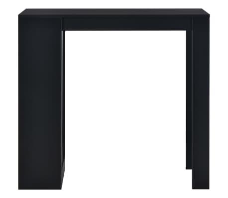vidaXL Bartafel met schap 110x50x103 cm zwart[2/6]
